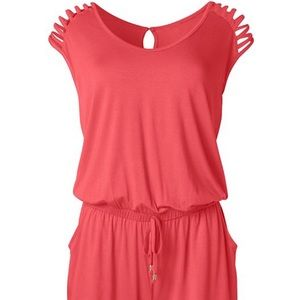 NWT size xs coral romper